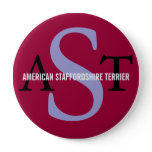 American Staffordshire Terrier Pinback Button