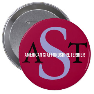 American Staffordshire Terrier Pinback Button
