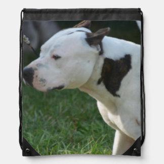 American Staffordshire Terrier Drawstring Bags