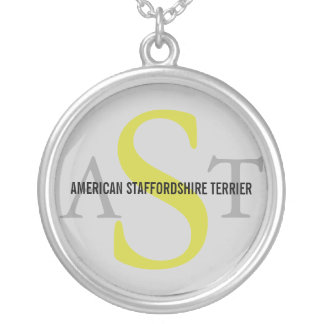 American Staffordshire Terrier Round Pendant Necklace