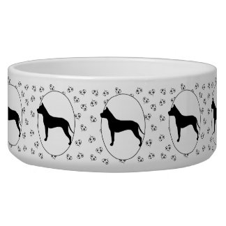 American Staffordshire Terrier Silhouette Bowl