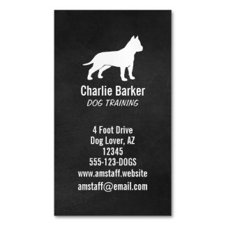 American Staffordshire Terrier Silhouette Business Card Magnet