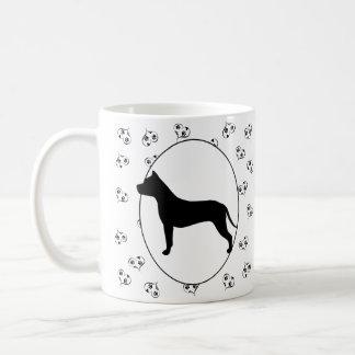 American Staffordshire Terrier Silhouette Coffee Mug