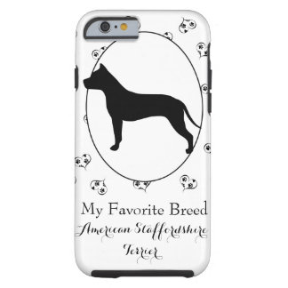 American Staffordshire Terrier Silhouette Tough iPhone 6 Case