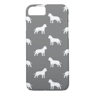 American Staffordshire Terrier Silhouettes Pattern iPhone 8/7 Case