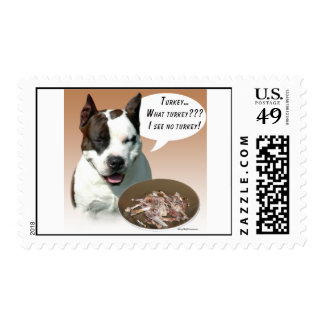 American Staffordshire Terrier Turkey Postage