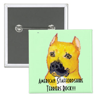 American Staffordshire Terriers Button