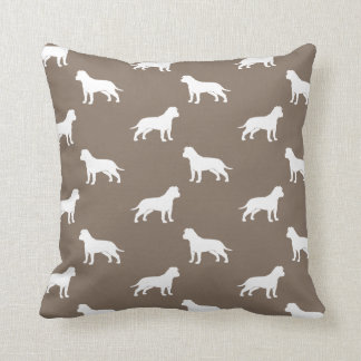 American Staffordshire Terriers (Floppy Ears) Throw Pillows