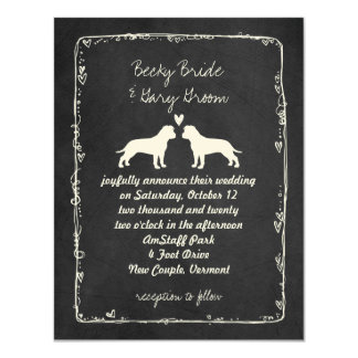 American Staffordshire Terriers Wedding Invitation