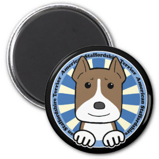 American Stafforshire Terrier 2 Inch Round Magnet