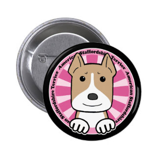 American Stafforshire Terrier Button