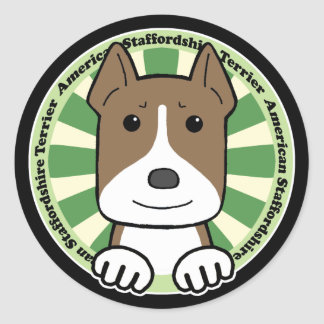 American Stafforshire Terrier Classic Round Sticker