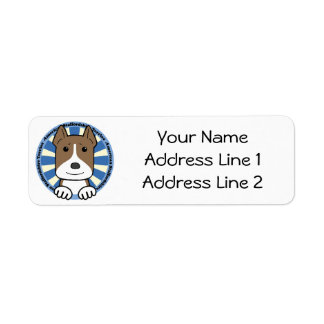 American Stafforshire Terrier Label