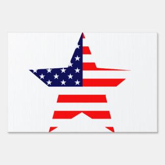 American Star Lawn Sign