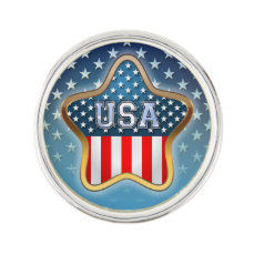 American Star Pin