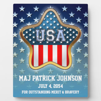 American Star Plaque