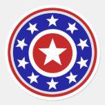 American Star Shield Round Sticker