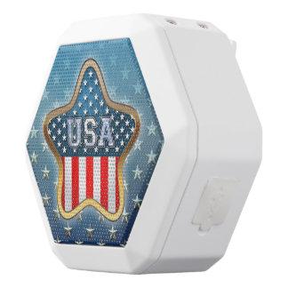 American Star White Bluetooth Speaker