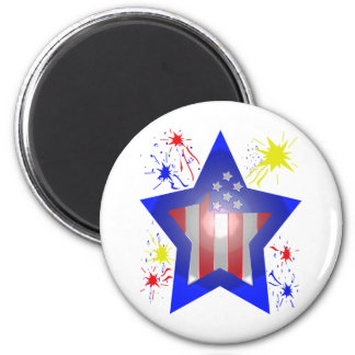 American star with fireworks magnet