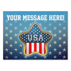 American Star Yard Sign