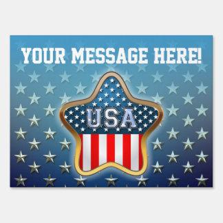 American Star Yard Sign