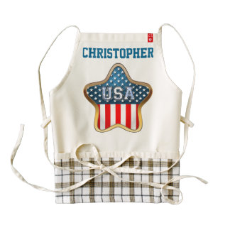 American Star Zazzle HEART Apron