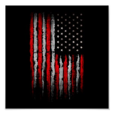 American stars and stripes poster