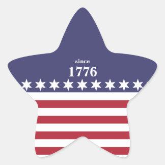 American Stars and Stripes Star Sticker