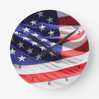 American stars and stripes US flag, gift Round Clock