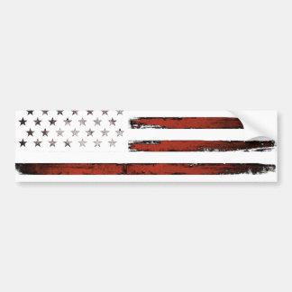 American Stars and stripes Vintage Bumper Sticker