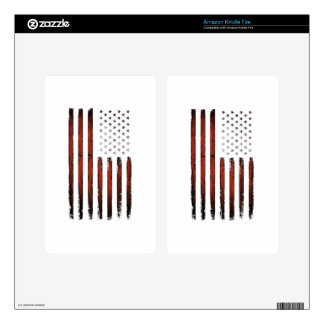 American Stars and stripes Vintage Kindle Fire Skin