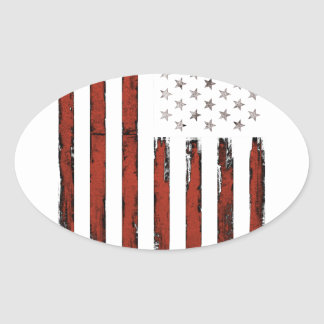American Stars and stripes Vintage Oval Sticker
