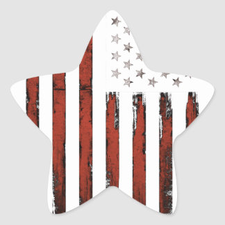 American Stars and stripes Vintage Star Sticker