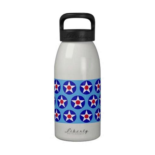 American Stars Blue Liberty Bottle Water Bottles