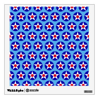 American Stars Blue  Wall Decal