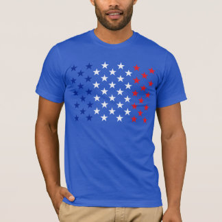 American Stars from the Flag Tri-Color Style T-Shirt