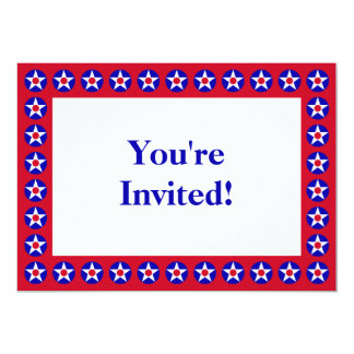 American Stars Red Fourth of July Invitation