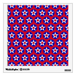 American Stars Red  Wall Decal
