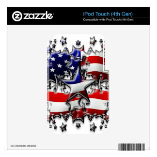 American Stars Skin For iPod Touch 4G