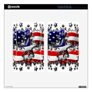 American Stars Skin For Kindle Fire