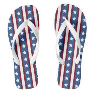 American Stars Stripes beach shoes Flip Flops