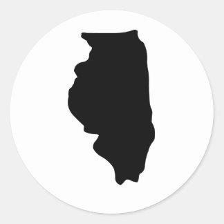American State of Illinois Classic Round Sticker