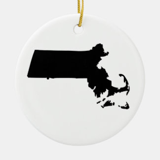 American State of Massachusetts Ceramic Ornament