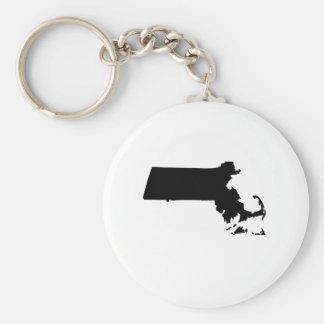 American State of Massachusetts Key Chains