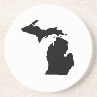 American State of Michigan Drink Coaster