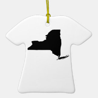 American State of New York Double-Sided T-Shirt Ceramic Christmas Ornament