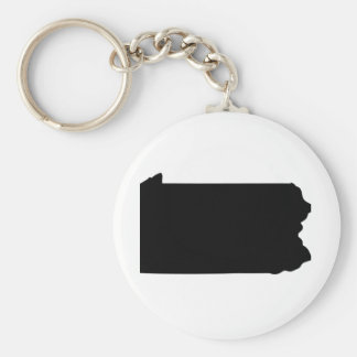 American State of Pennsylvania Basic Round Button Keychain