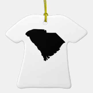 American State of South Carolina Double-Sided T-Shirt Ceramic Christmas Ornament