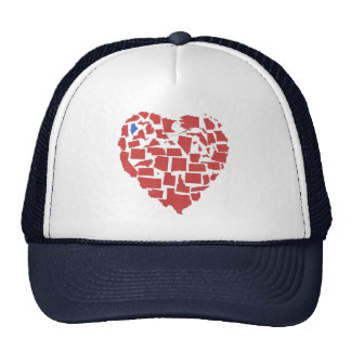 American States Heart Mosaic Maine Red Trucker Hat
