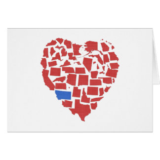 American States Heart Mosaic Montana Red Card